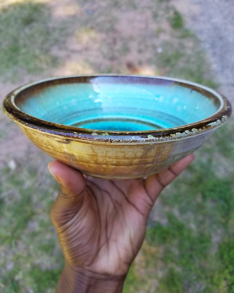 Gold Aqua blue micro crystallin - deloresjhayes | ello