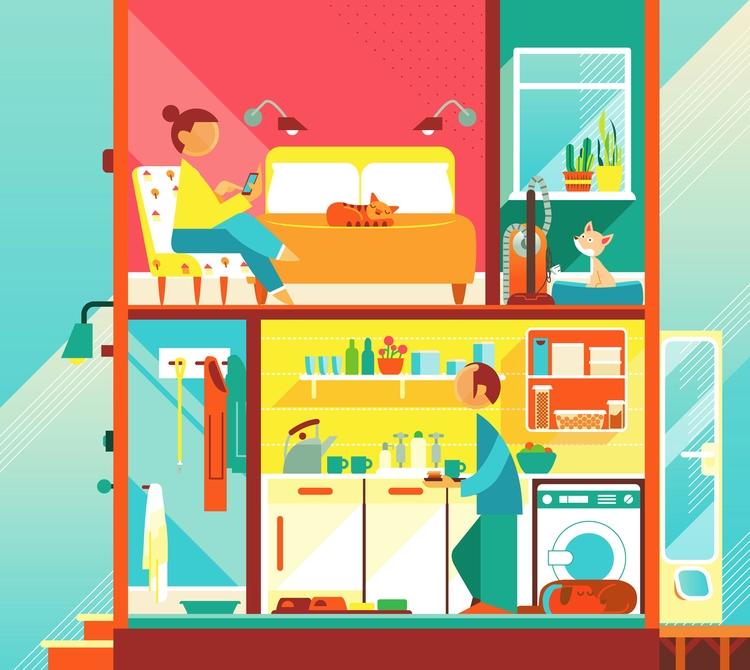 Pets Home magazine - vector, illustration - bentheillustrator | ello