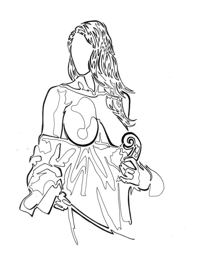 Nude, cello Single continuous l - robert_bentley | ello