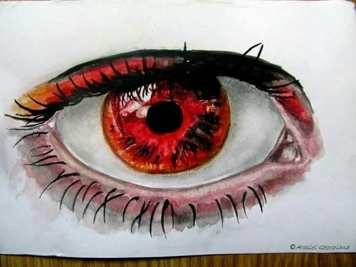 eye1, paper, tempera, watercolours - atasieigeo | ello
