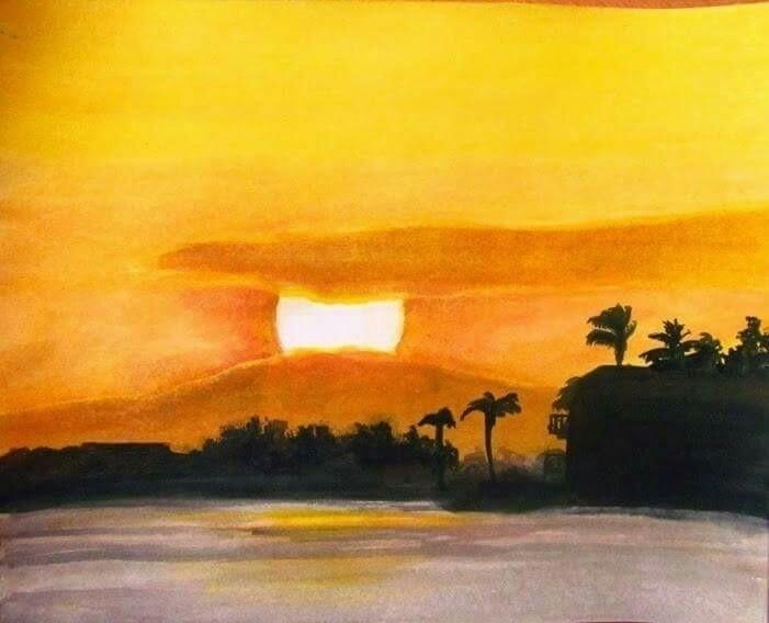 landscape, acrilic, paper - atasieigeo | ello