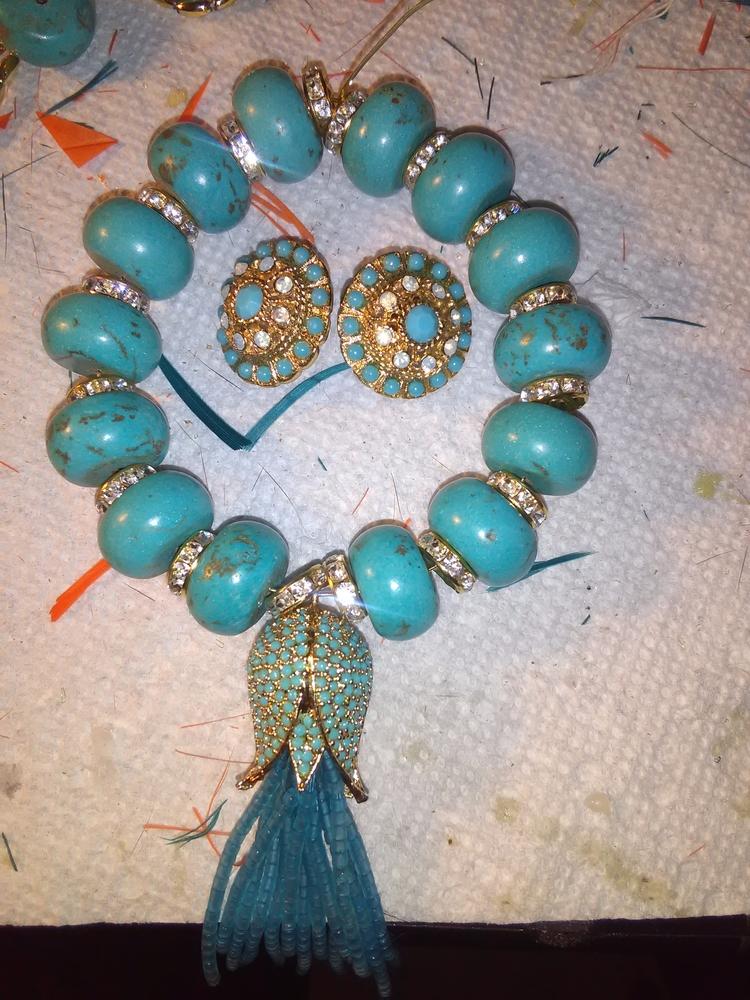 BRACELET/earrings: turquoise, c - x-berger313 | ello