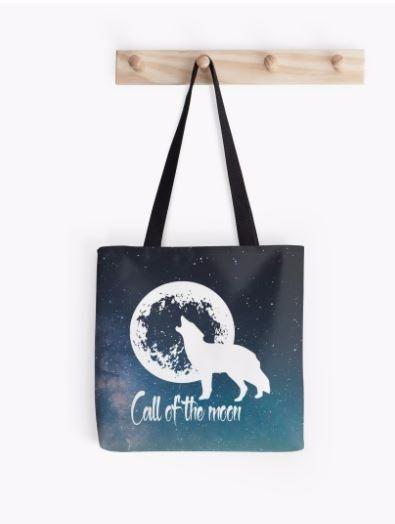 wolf, moon, stars, space, lupa - nalebrun | ello
