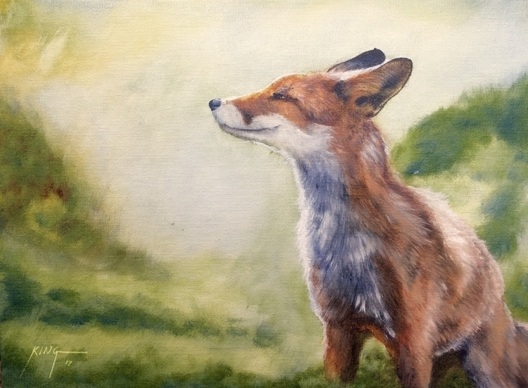 Cunning Vixen (oil canvas panel - dreamsong | ello