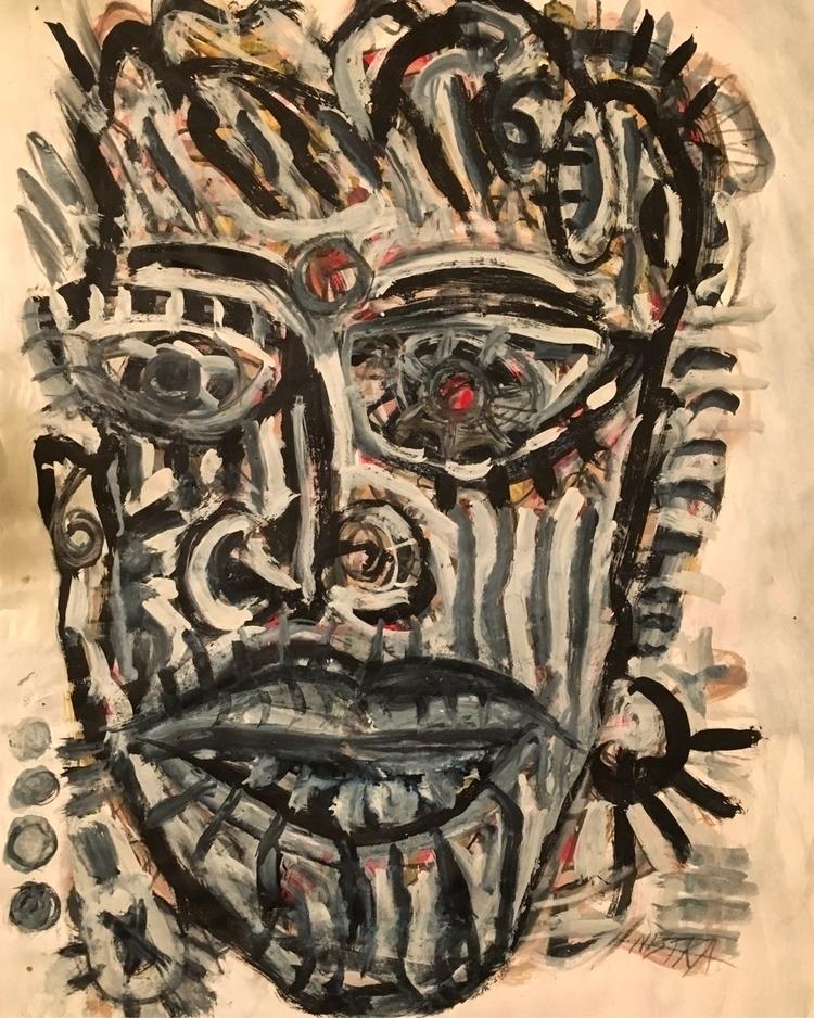 Tiwi Man Mix Media Paper - neoexpressionism - nicolamaria | ello