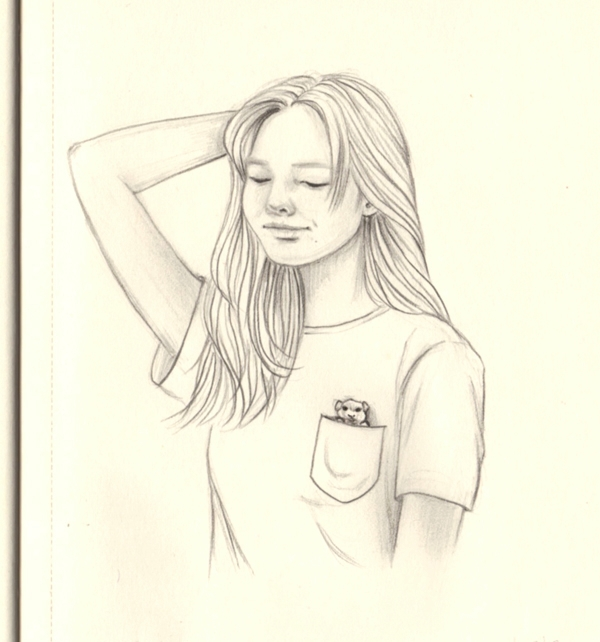 friend - drawing, doodle, graphite - j0eyg1rl | ello