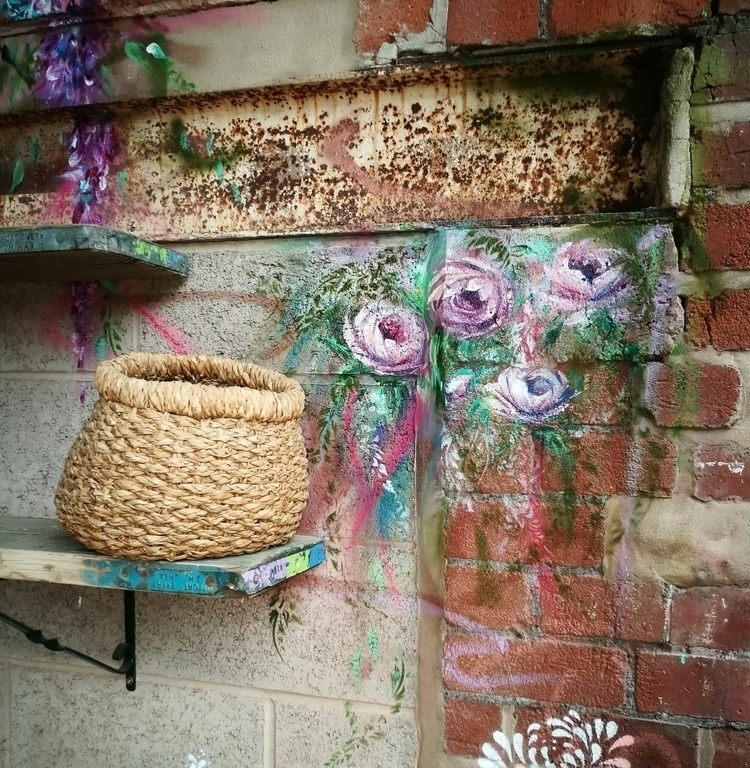 growing  - roses, art, mural, painter - femsorcell | ello