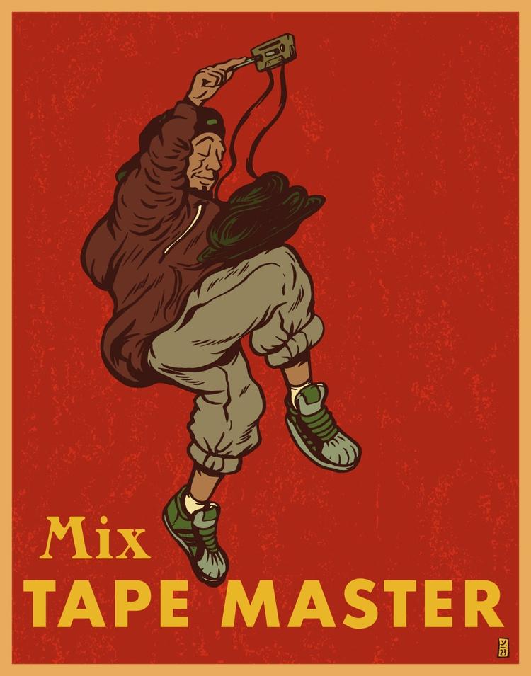 Mix Tape Master - illustration - thomcat23 | ello