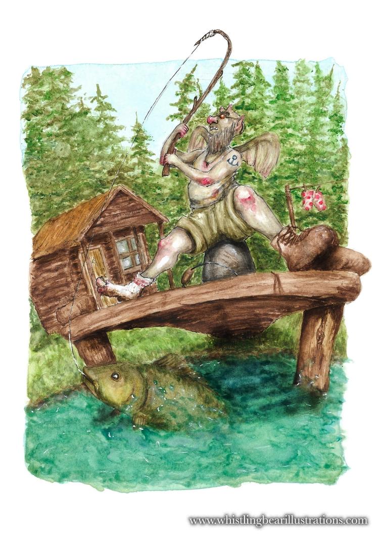 Fisher Fairy Francis - fantasy, fairytale - whistlingbear | ello