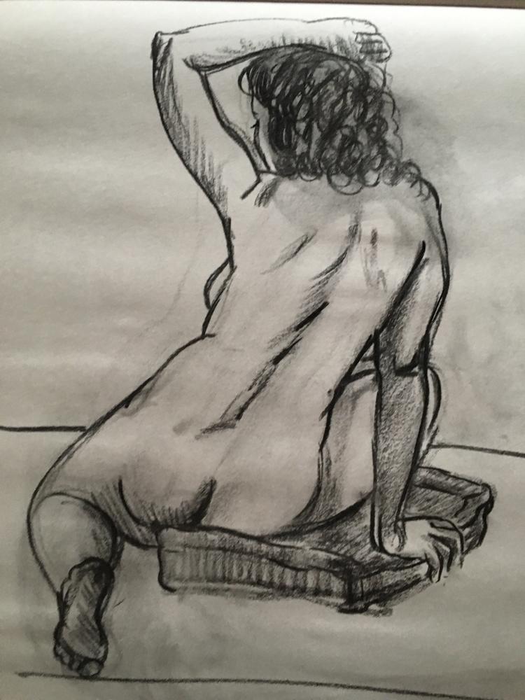 nude model drawing | - livedrawing#15minsketch#sketching#charcoildrawing#art#artist#fineart#graphicart#nude#plasticanatomy - chulanova | ello