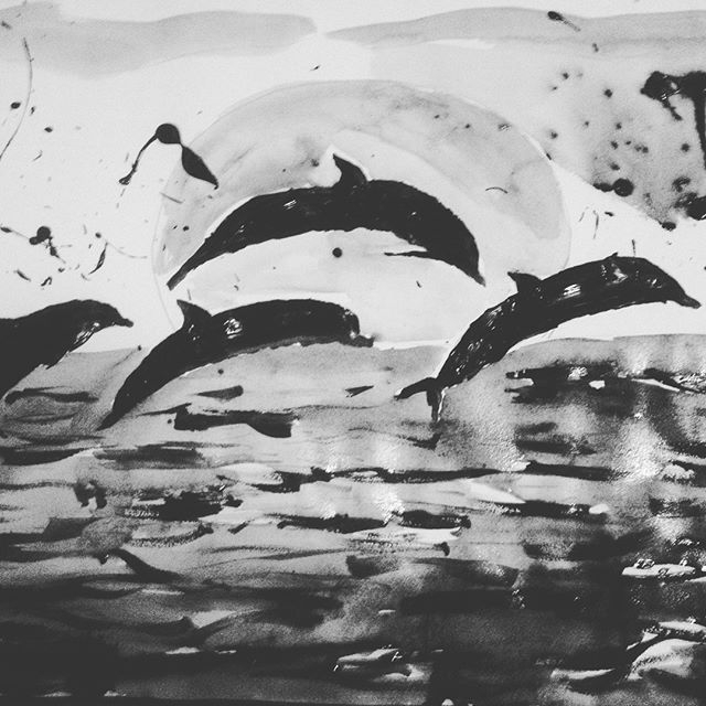 Dolphins love - loveartwonders | ello
