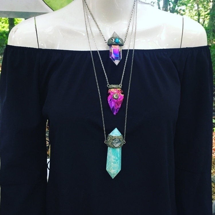 unique crystal necklaces shop - bohochic - mermaidtearshawaii | ello