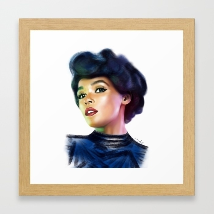 Janelle Monaé. Digital painting - bymosler   ello