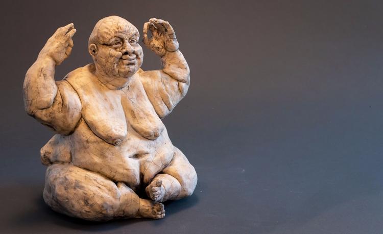 Yoga, Ceramic Raku Dirk Dahl - dirkdahl | ello
