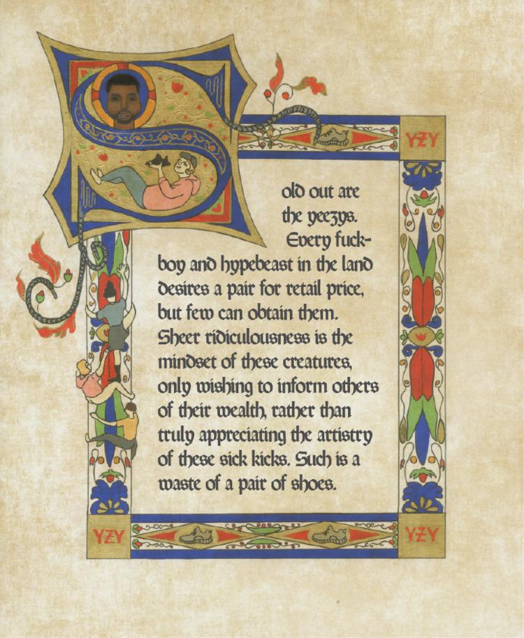 illuminated manuscript style pi - angelinecc | ello