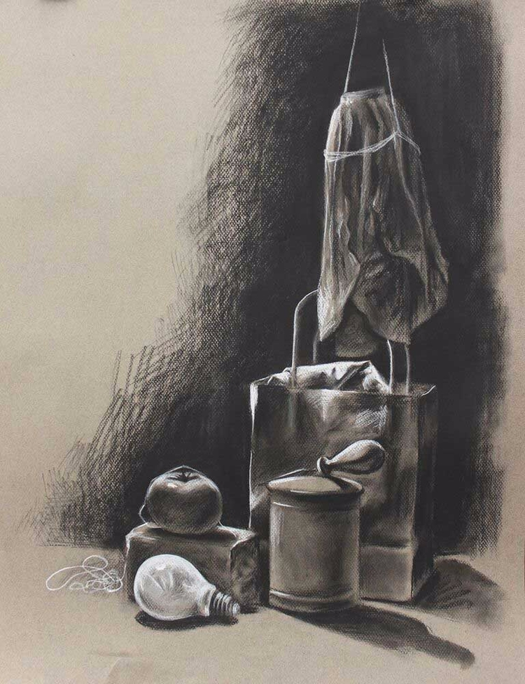 life. Charcoal toned paper. 18  - angelinecc | ello