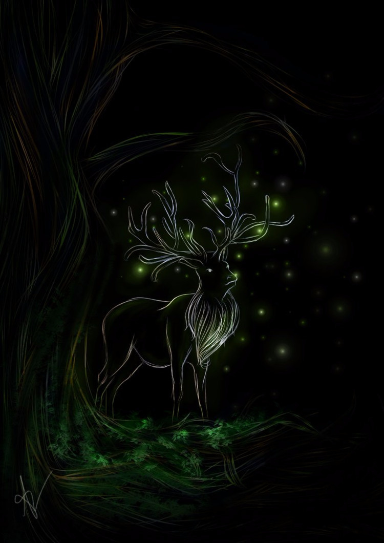 Lights forest - Ilustração Digi - viithay | ello