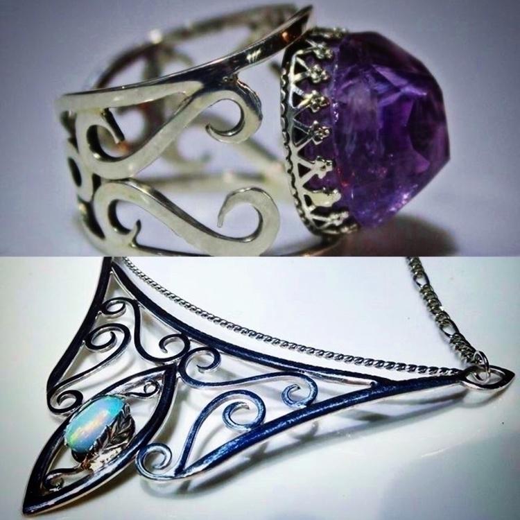 Elven inspired amethyst ring Et - phoenixrisingjewelry | ello