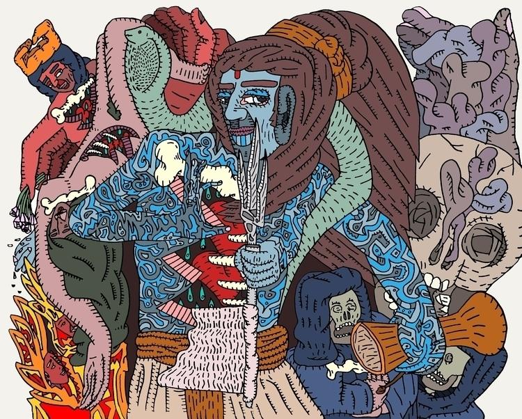 Shiva Return Dreamers - mythology - au_haus | ello