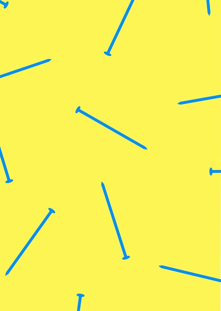 nails, illustration, blue, yellow - adi92 | ello