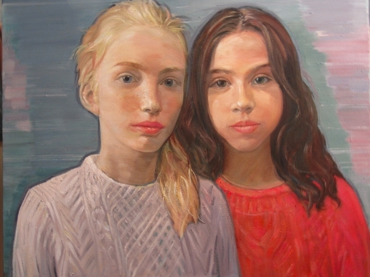 Wating Train ( girls ), oil ,30 - atsushiohashi | ello