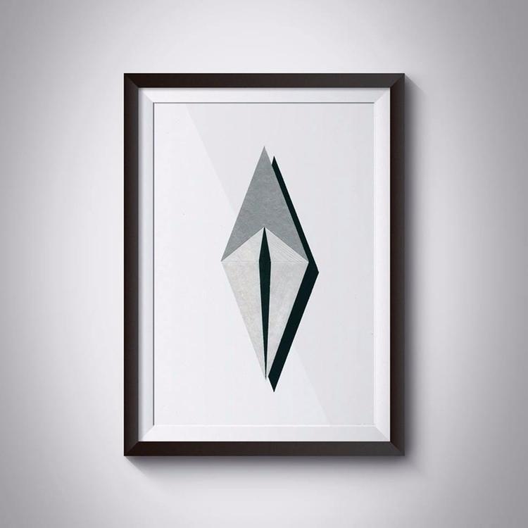_Paper, 21x29,7 cm, acrylic, pa - ilobahie | ello