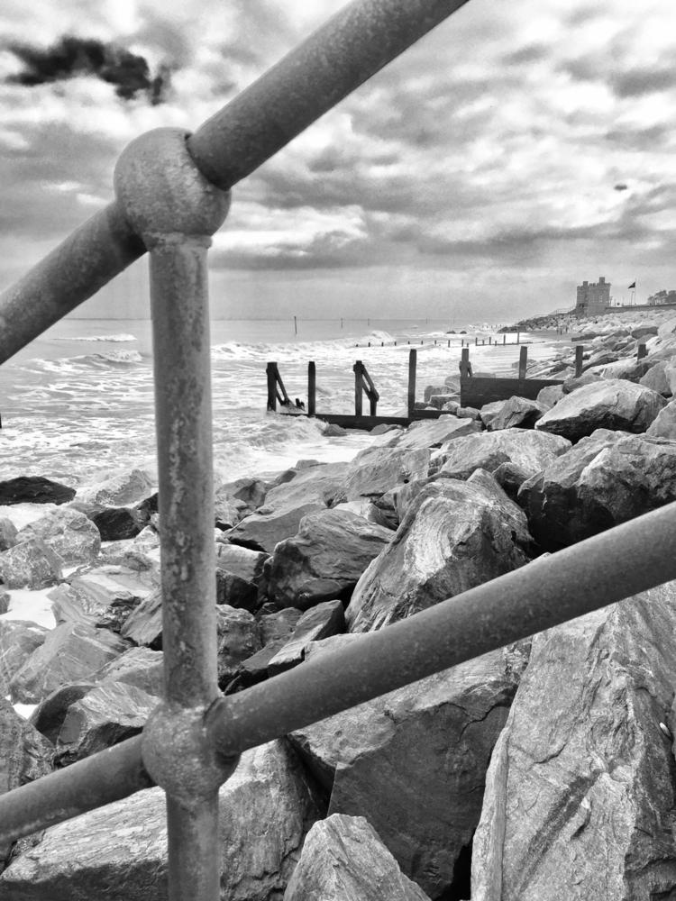 Beach, Rocks, Rust, Waves, Yorkshire - mamajules77 | ello