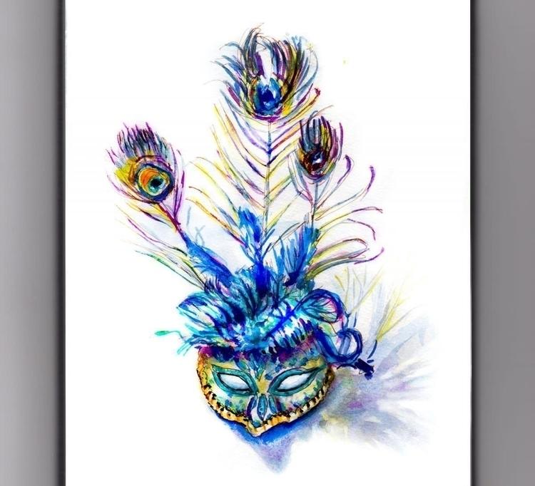 Theatre  - DoodlewashClub, WorldWatercolorGroup - doodlewash | ello