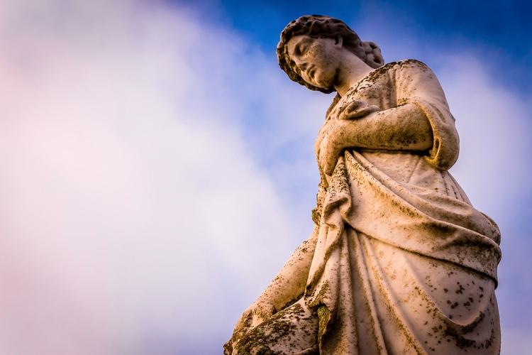 Forlorn Moss grows statue atop  - mattgharvey | ello