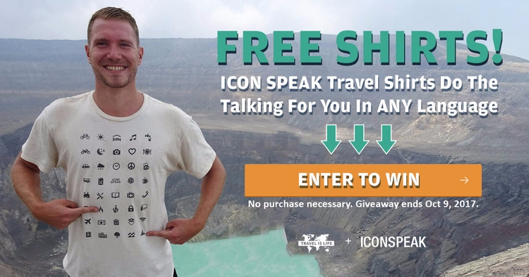 GIVEAWAY! Win ICONSPEAK World T - travelislifeorg | ello