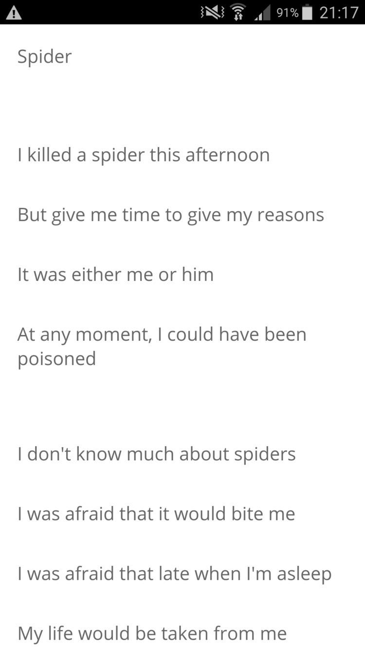 Link Poem,Spider - poetry, poet - humanityinpoetry | ello