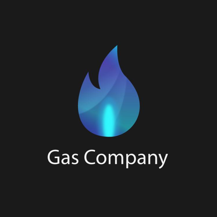 Gas Company Logo, Concept - Gradient - wvw001 | ello