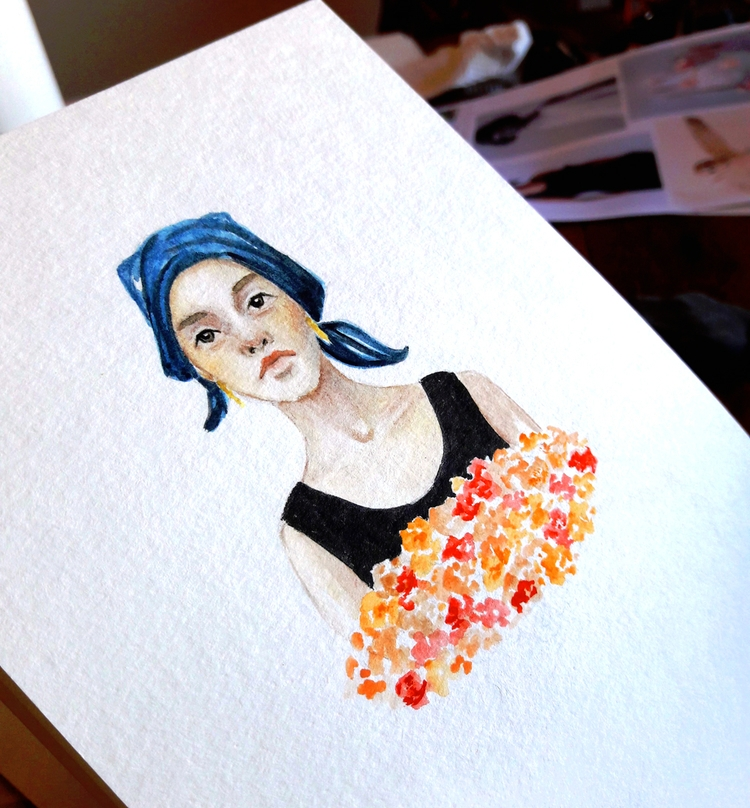 Watercolour Study - painting, watercolours - j0eyg1rl | ello