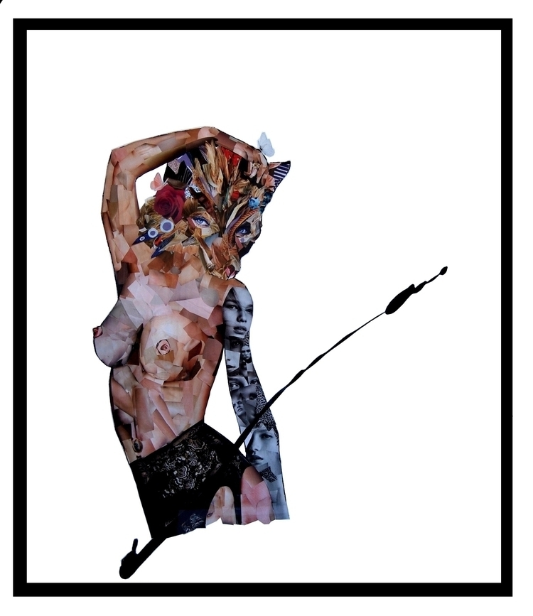 'Peacocking' 103 x117cm. collag - reilly_art   ello