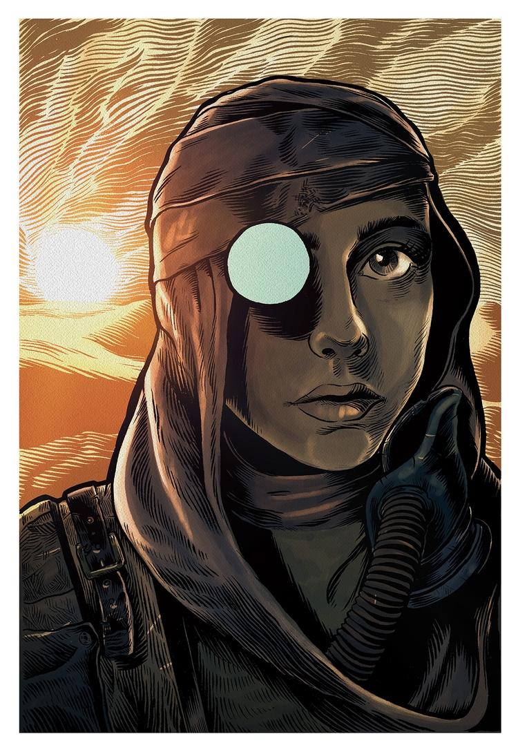 Desert Girl Future) ink paper d - splendidhand | ello