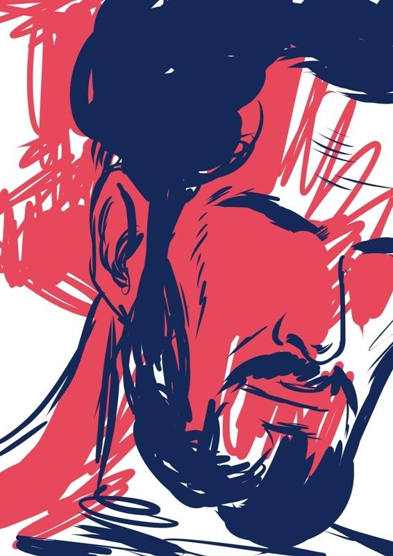 drawing, man, portrait - laceoni | ello