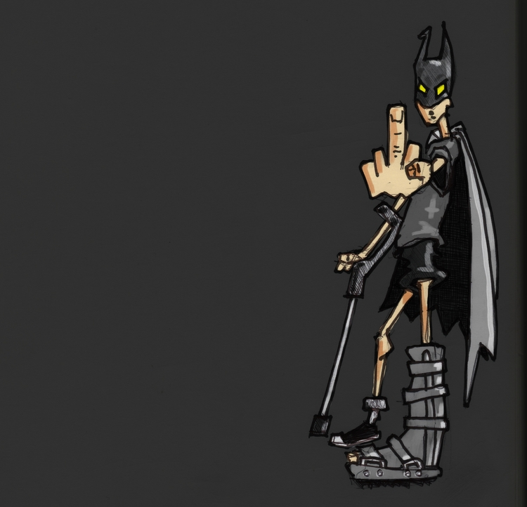 batman, cosplay, pobre, digitalcolor - cjburgos | ello