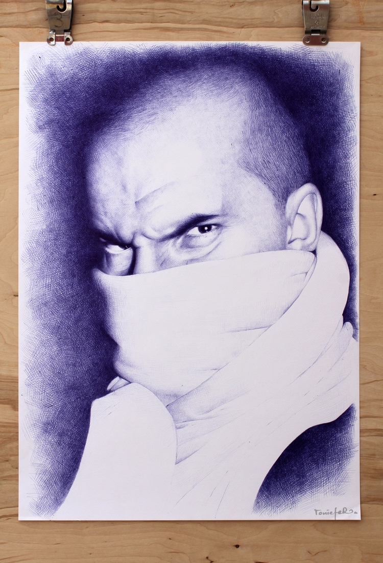 ballpoint pen paper 42x60 cm - toniefer | ello