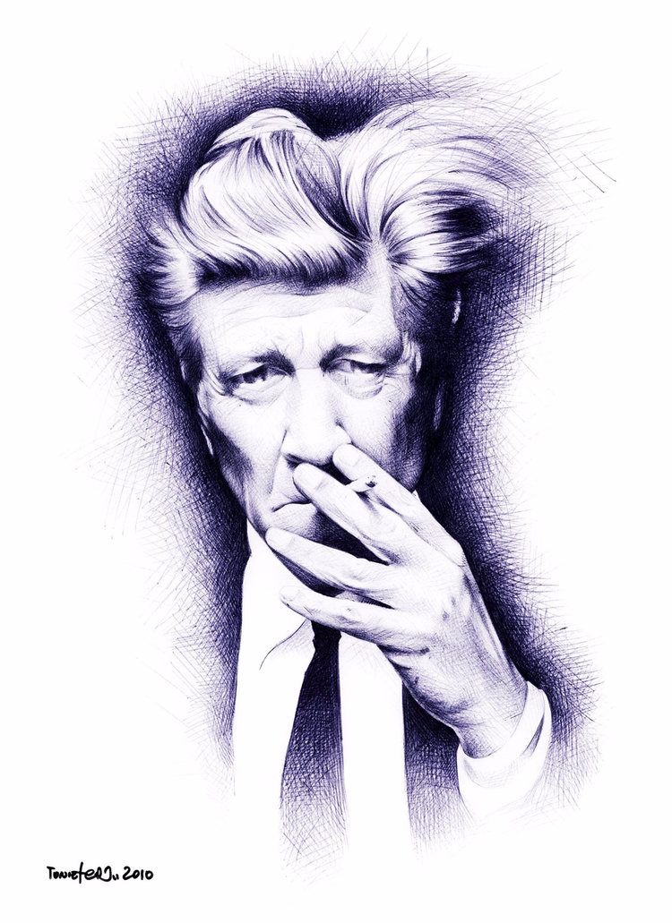 David Lynch ballpoint pen paper - toniefer | ello
