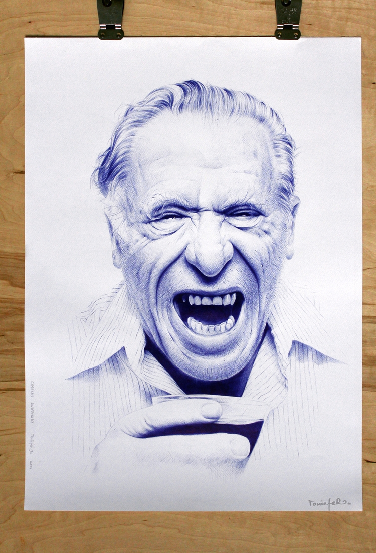 Charles Bukowski ballpoint pen  - toniefer | ello