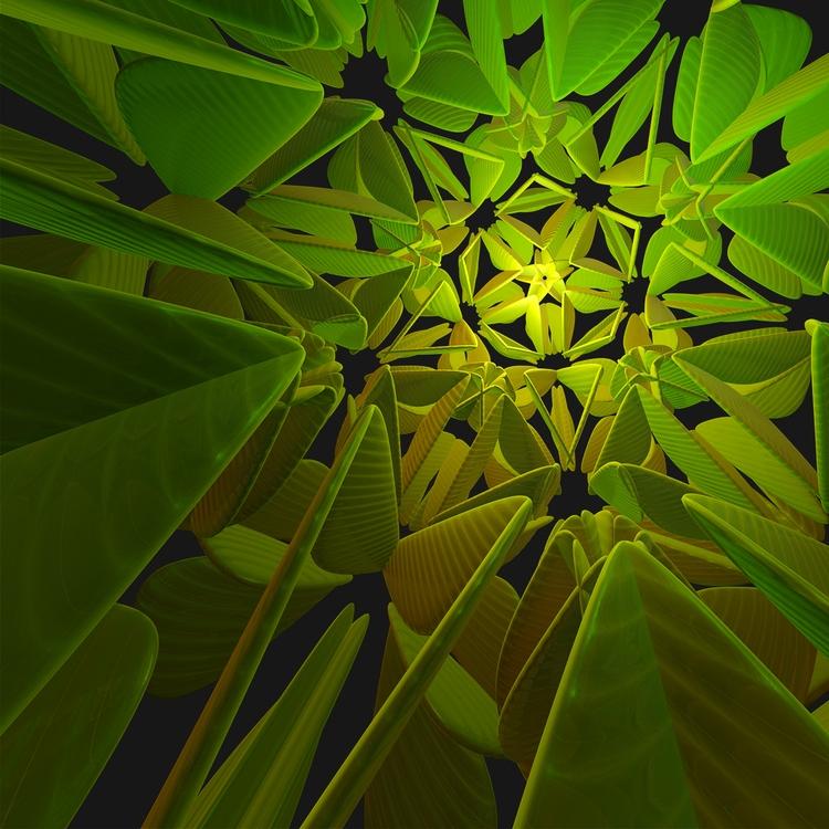 Secret Succulent Digital Art 24 - sphericalart | ello