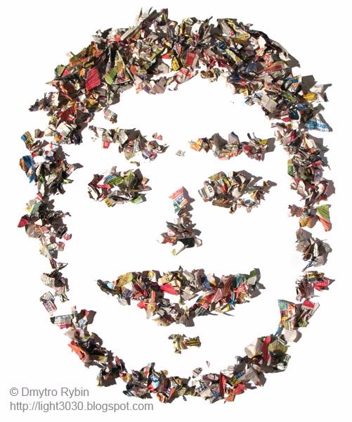 face pieces newspaper. Smile - portrait - dmytroua | ello