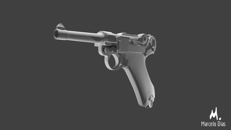 LUGER P08 PISTOL Model High pol - marcelo_d | ello