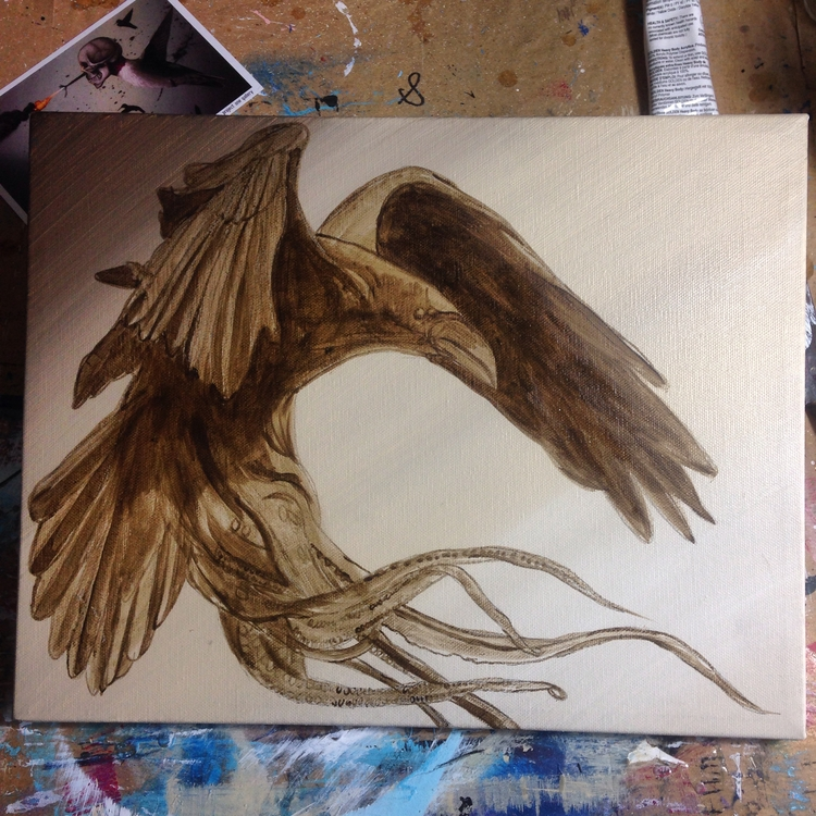 bird word - wip, EAPoe, HPLovecraft - bowenstuff | ello