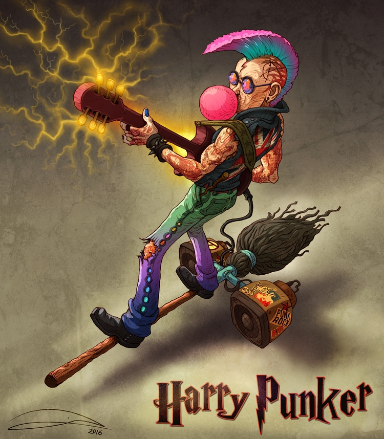 HARRY PUNKER. Punk Rock + magic - baruchinbar | ello