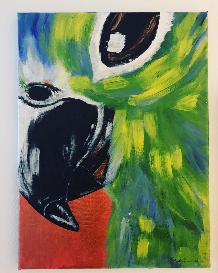 byme, art, artist, parrot, martinepoulsen - martine_poulsen | ello