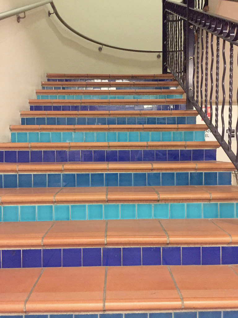 Terracotta Tile Stairs / Red Wo - red_wolf | ello