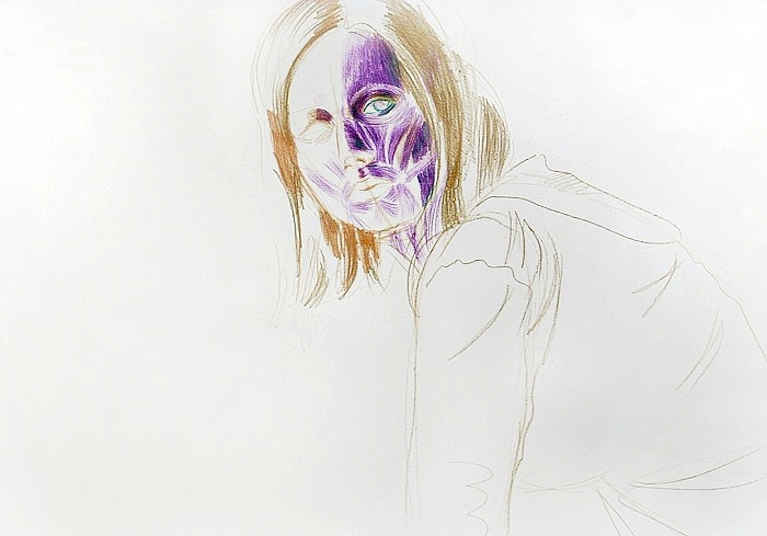2007 - colour pencil paper - anatomy - kadriallekand | ello
