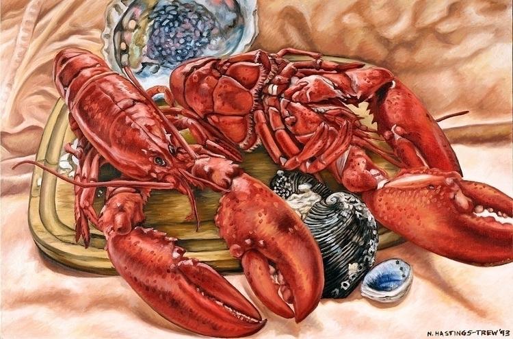 Lobster Shells – 1993, 20X30, o - nancyht | ello