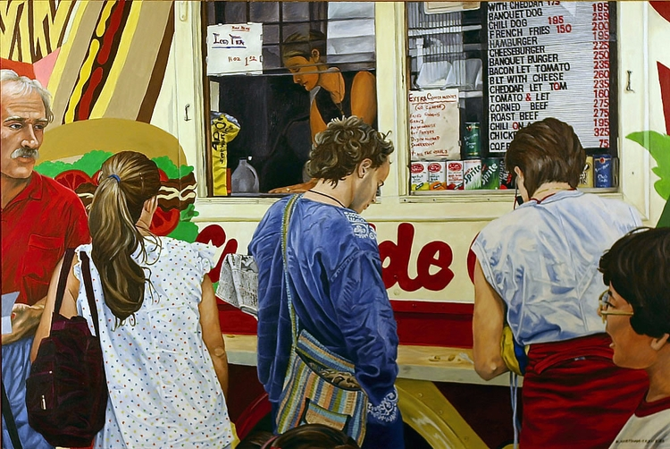 Food Truck Eats – 1987, 32X48,  - nancyht | ello